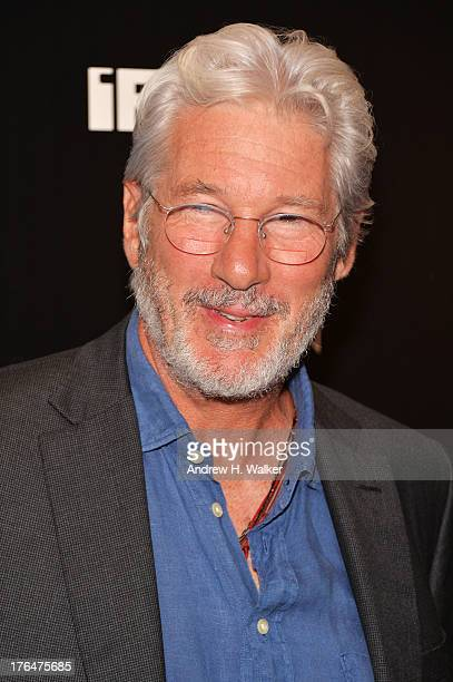 Actor Richard Gere attends the Downtown Calvin Klein with The Cinema Society screening of IFC Films' 'Ain't Them Bodies Saints' at the Museum of...