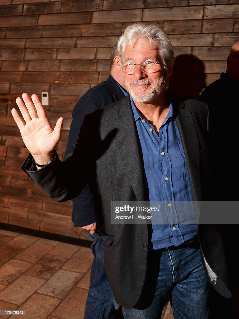 Actor <a gi-track='captionPersonalityLinkClicked' href=/galleries/search?phrase=Richard+Gere&family=editorial&specificpeople=202110 ng-click='$event.stopPropagation()'>Richard Gere</a> attends the Downtown Calvin Klein with The Cinema Society screening of IFC Films' 'Ain't Them Bodies Saints' after party at Refinery Rooftop on August 13, 2013 in New York City.