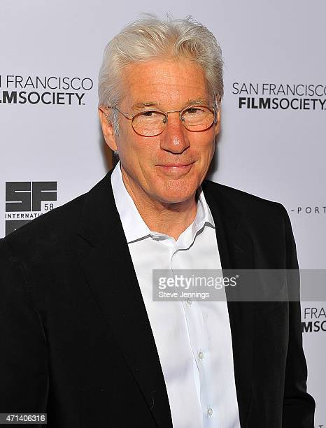 Actor Richard Gere attends the Film Society Awards Night at the 58th San Francisco International Film Festival at The Armory on April 27 2015 in San...