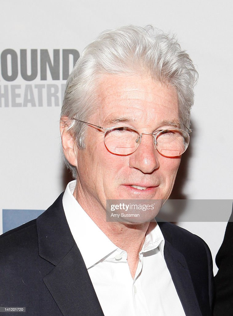 Actor <a gi-track='captionPersonalityLinkClicked' href=/galleries/search?phrase=Richard+Gere&family=editorial&specificpeople=202110 ng-click='$event.stopPropagation()'>Richard Gere</a> attends The Roundabout Theatre 2012 Spring Gala 'From Screen to Stage' dinner and auction at the Hammerstein Ballroom on March 12, 2012 in New York City.