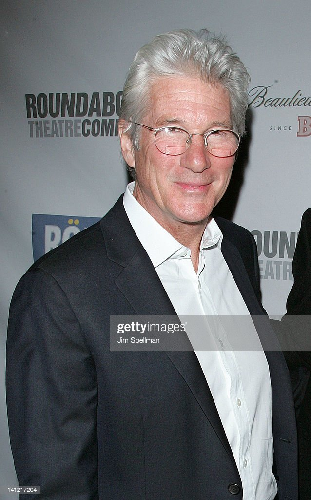 Actor Richard Gere attends The Roundabout Theatre 2012 Spring Gala 'From Screen to Stage' dinner and auction at the Hammerstein Ballroom on March 12, 2012 in New York City.