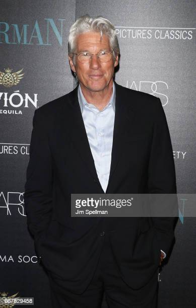 Actor Richard Gere attends the screening of Sony Pictures Classics' 'Norman' hosted by The Cinema Society with NARS AVION at the Whitby Hotel on...