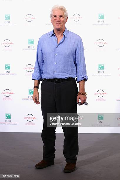 Actor Richard Gere attends the 'Time Out of Mind' Photocall during the 9th Rome Film Festival at Auditorium Parco Della Musica on October 19 2014 in...
