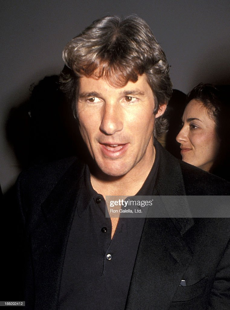 Actor <a gi-track='captionPersonalityLinkClicked' href=/galleries/search?phrase=Richard+Gere&family=editorial&specificpeople=202110 ng-click='$event.stopPropagation()'>Richard Gere</a> attends 'The Year of Tibet Portfolio' Opening Night Exhibition to Benefit The Tibet House on November 27, 1990 at the Fahey/Klein Gallery in Los Angeles, California.