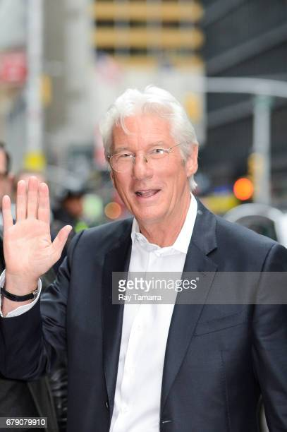 Actor Richard Gere enters the 'The Late Show With Stephen Colbert' taping at the Ed Sullivan Theater on May 04 2017 in New York City