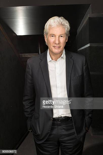 Actor Richard Gere is photographed for Self Assignment on December 14 2015 in Rome Italy