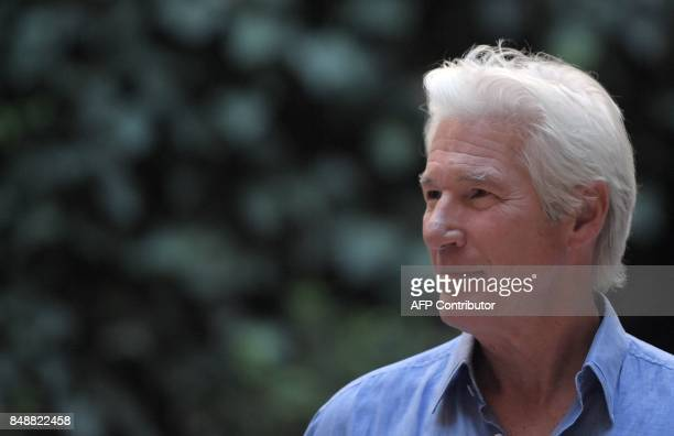 US actor Richard Gere poses during a photocall of the movie 'Norman The Moderate Rise and Tragic Fall of a New York Fixer' on September 18 2017 in...