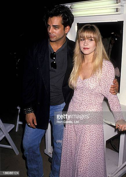 Actor Richard Grieco and actress Christina Applegate attend the City of Hope's Third Annual Halloween for Hope Benefit on October 28 1989 at 20th...