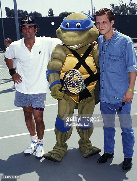 Actor Richard Grieco Leonardo and actor Christian Slater attend the Seventh Annual Celebrity Tennis Classic to Benefit the MakeAWish Foundation on...