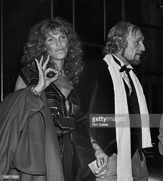 Actor Richard Harris and actress Ann Turkel attending 'Electra Asylum Record Party for Richard Perry' on November 2 1981 at the Rainbow Room in New...