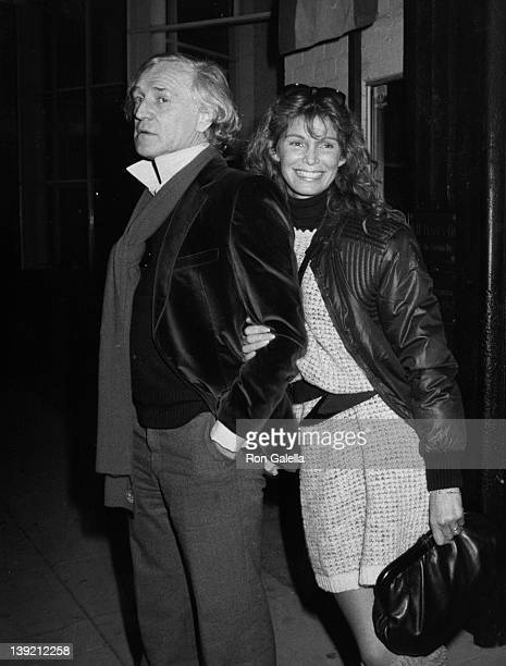 Actor Richard Harris and actress Ann Turkel being photographed on January 4 1981 at Mr Chow's Restaurant in Beverly Hills California