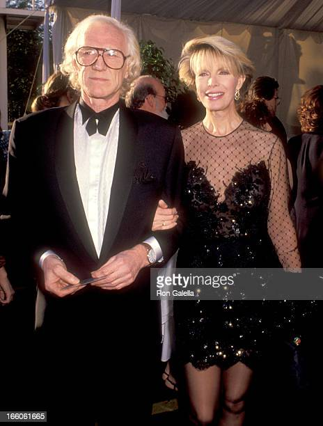 Actor Richard Harris and Cassandra Harris attend the 63rd Annual Academy Awards on March 25 1991 at Shrine Auditorium in Los Angeles California