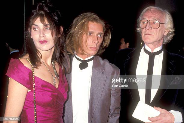 Actor Richard Harris son Jamie Harris and date attend the 48th Annual Golden Globe Awards on January 19 1991 at Beverly Hilton Hotel in Beverly Hills...