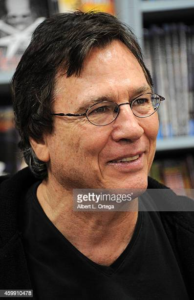 Actor Richard Hatch signs 'Death Of Apollo' at The Comic Bug on December 3 2014 in Culver City California