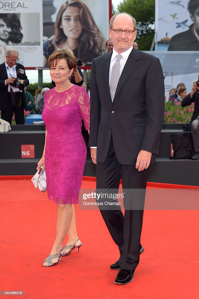Actor <a gi-track='captionPersonalityLinkClicked' href=/galleries/search?phrase=Richard+Jenkins&family=editorial&specificpeople=944870 ng-click='$event.stopPropagation()'>Richard Jenkins</a> and his wife Sharon R. Friedrick attend the 'Olive Kitteridge Parts 1-2' premiere during the 71st Venice Film Festival at Sala Grande on September 1, 2014 in Venice, Italy.