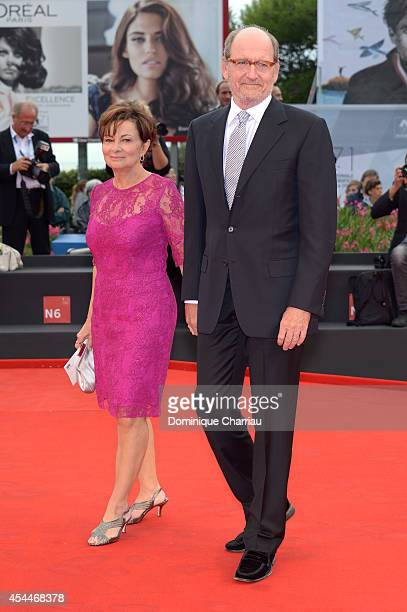 Actor Richard Jenkins and his wife Sharon R Friedrick attend the 'Olive Kitteridge Parts 12' premiere during the 71st Venice Film Festival at Sala...