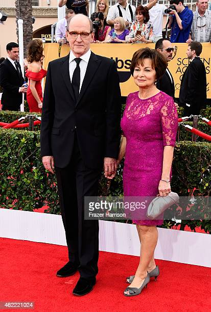 Actor Richard Jenkins and Sharon Friedrick attend the 21st Annual Screen Actors Guild Awards at The Shrine Auditorium on January 25 2015 in Los...