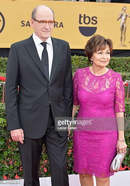 Actor Richard Jenkins and Sharon R Friedrick attend the 21st Annual Screen Actors Guild Awards at The Shrine Auditorium on January 25 2015 in Los...