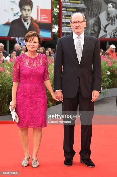 Actor Richard Jenkins and wife Sharon R Friedrick attend the 'Olive Kitteridge Parts 12' premiere during the 71st Venice Film Festival at Sala Grande...