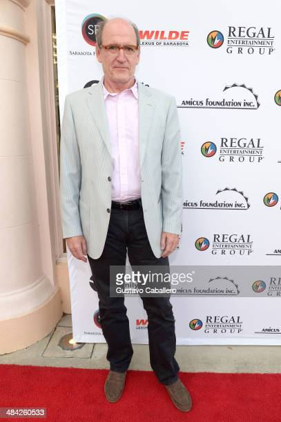 Actor Richard Jenkins arrives to the screening of 'God's Pocket' during the Sarasota Film Festival at Sarasota Opera House on April 11 2014 in...