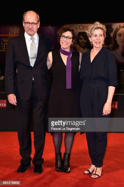 Actor Richard Jenkins director Lisa Cholodenko and actress Frances McDormand attend the 'Olive Kitteridge Part 34' Premiere during the 71st Venice...