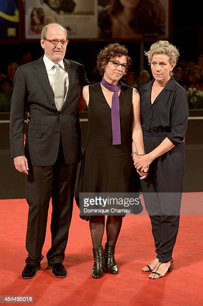 Actor Richard Jenkins director Lisa Cholodenko and actress Frances McDormand attend the 'Olive Kitteridge Parts 34' premiere during the 71st Venice...