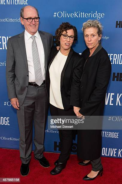 Actor Richard Jenkins director Lisa Cholodenko and actress Frances McDormand attend the 'Olive Kitteridge New York Premiere at SVA Theater on October...