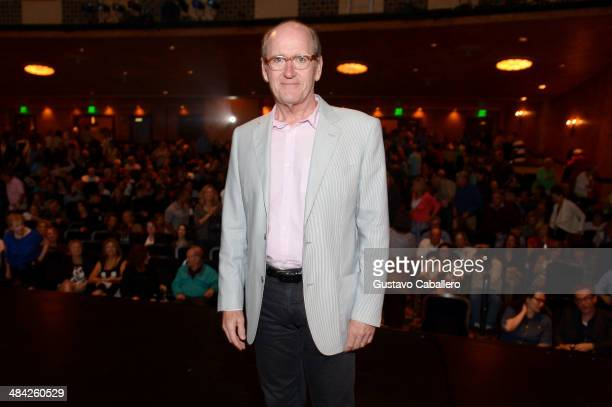 Actor Richard Jenkins poses after a screening of 'God's Pocket' during the Sarasota Film Festival at Sarasota Opera House on April 11 2014 in...