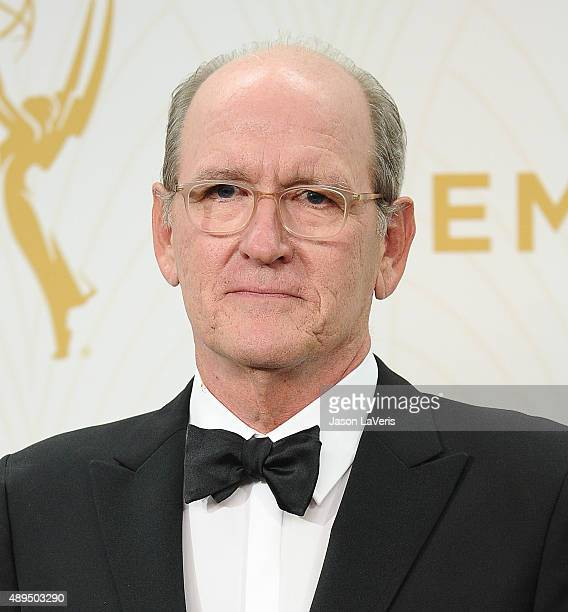 Actor Richard Jenkins poses in the press room at the 67th annual Primetime Emmy Awards at Microsoft Theater on September 20 2015 in Los Angeles...