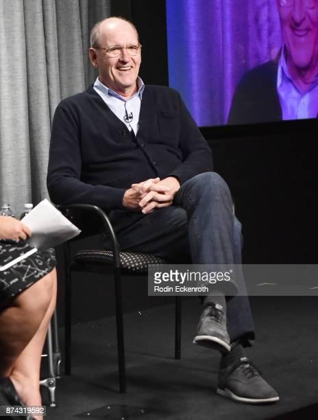 Actor Richard Jenkins speaks onstage at SAGAFTRA Foundation Conversations at SAGAFTRA Foundation Screening Room on November 14 2017 in Los Angeles...