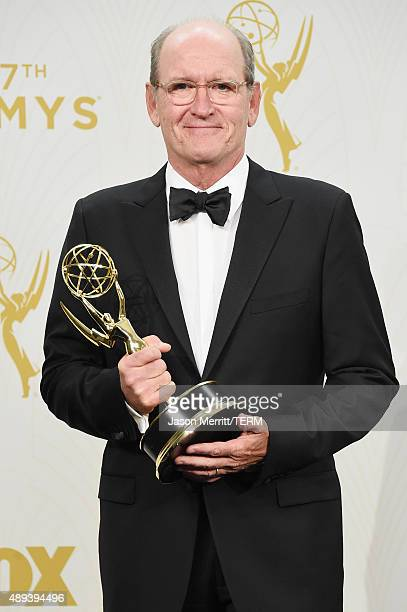 Actor Richard Jenkins winner of Outstanding Lead Actor in a Limited Series or Movie for 'Olive Kitteridge' poses in the press room at the 67th Annual...