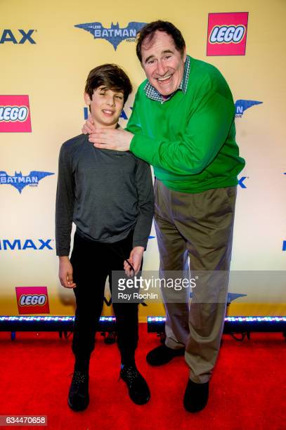 Actor Richard Kind and guest attends 'The Lego Batman Movie' New York Screening at AMC Loews Lincoln Square 13 on February 9 2017 in New York City
