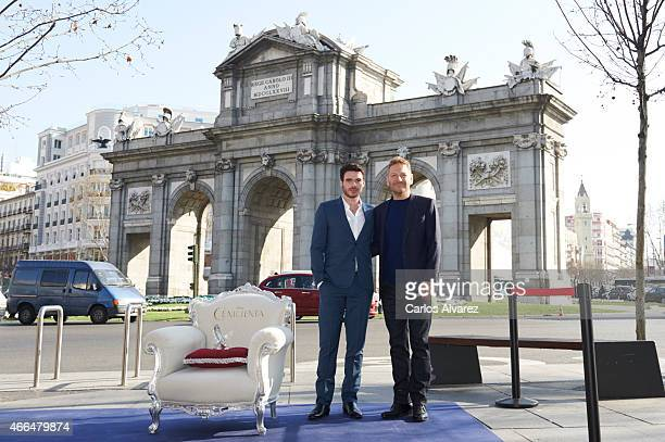 Actor Richard Madden and director Kenneth Branagh attend 'Cenicienta' photocall on March 16 2015 in Madrid Spain