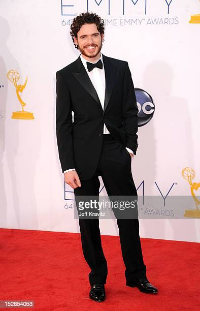 Actor Richard Madden arrives at the 64th Primetime Emmy Awards at Nokia Theatre LA Live on September 23 2012 in Los Angeles California