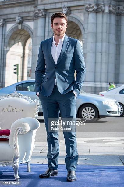 Actor Richard Madden attends the 'Cinderella' photocall at Puerta de Alcala on March 16 2015 in Madrid Spain