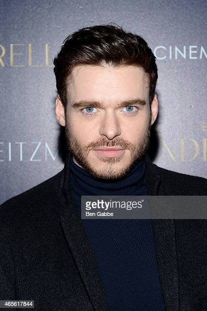 Actor Richard Madden attends The Cinema Society Stuart Weitzman Host A Special Screening Of Disney's 'Cinderella' at Tribeca Grand Hotel on March 8...