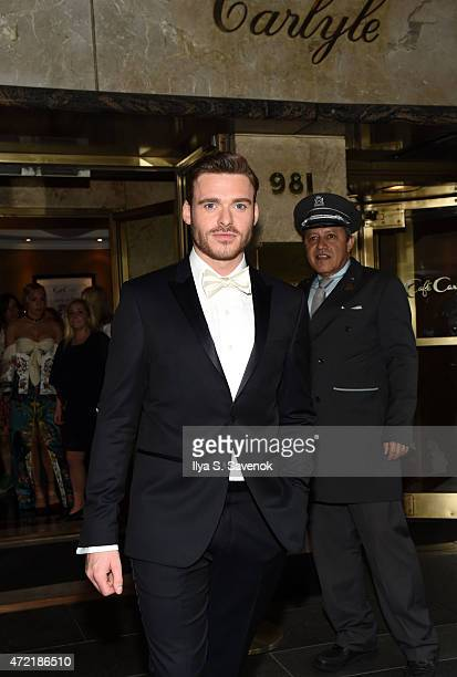Actor Richard Madden departs for the MET Gala 2015 from The Carlyle on May 4 2015 in New York City