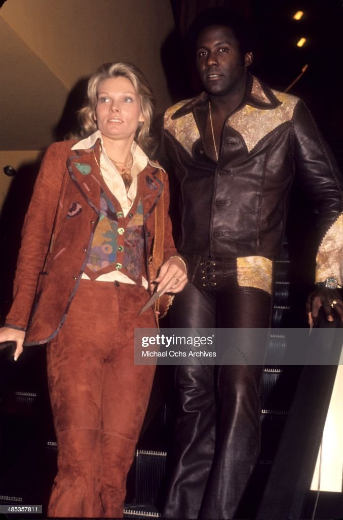 Actor Richard Roundtree attends an event with a guest in circa1971 in Los Angeles California