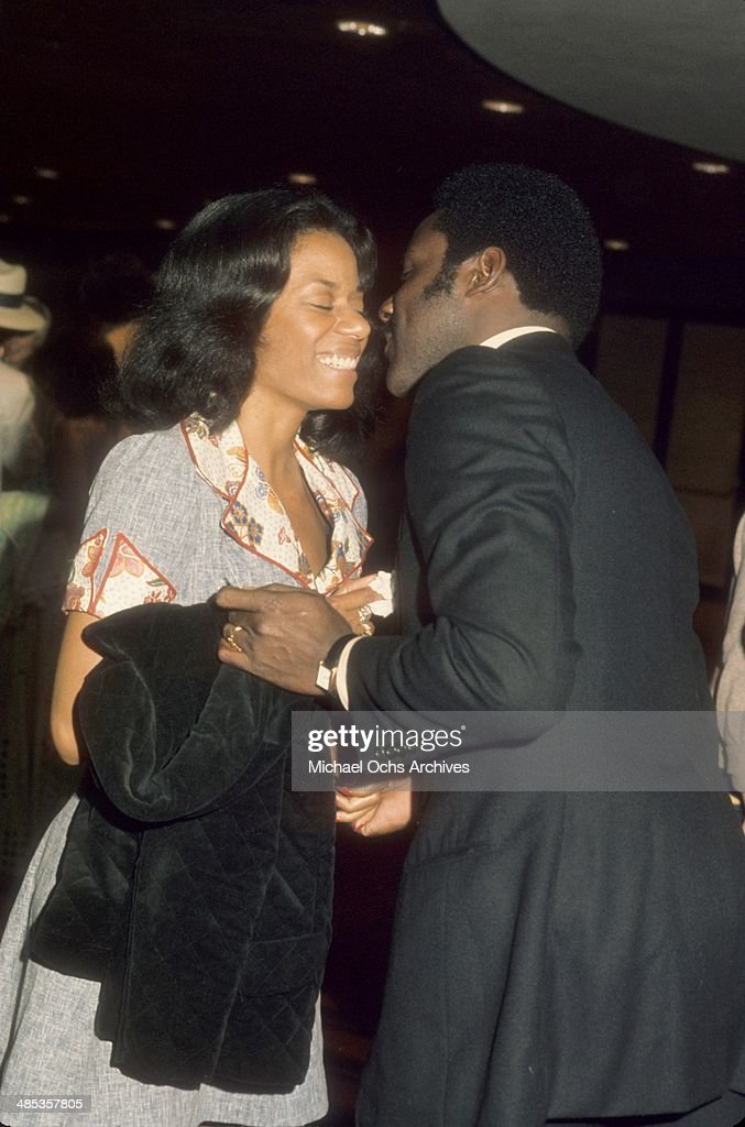 Actor Richard Roundtree attends an event with Hope Clarke in circa1971 in Los Angeles California