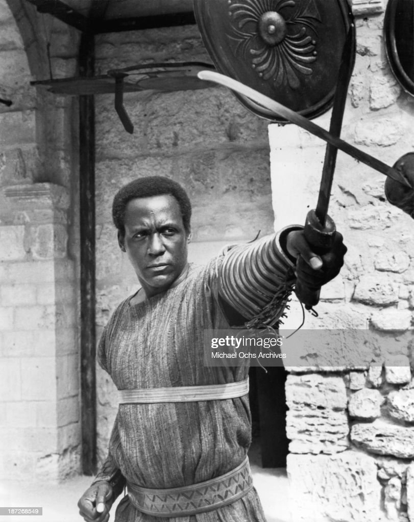 Actor Richard Roundtree on set for the TV miniseries' AD' as Serpenius Circa 1985