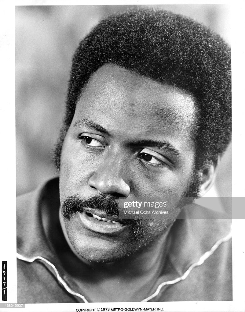 Actor Richard Roundtree on set of the movie 'Shaft in Africa ' circa 1973