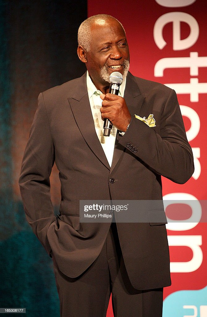 Actor Richard Roundtree speaks onstage during BET Networks 2013 Los Angeles Upfront at Montage Beverly Hills on April 2, 2013 in Beverly Hills, California.