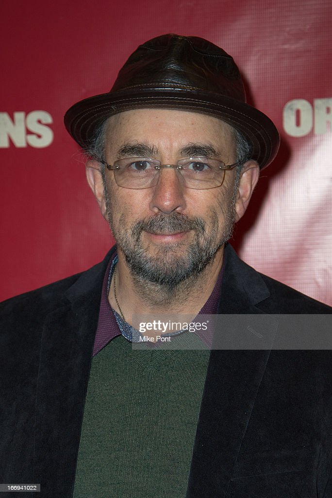 Actor <a gi-track='captionPersonalityLinkClicked' href=/galleries/search?phrase=Richard+Schiff&family=editorial&specificpeople=224824 ng-click='$event.stopPropagation()'>Richard Schiff</a> attends the 'Orphans' Broadway opening night at the Gerald Schoenfeld Theatre on April 18, 2013 in New York City.