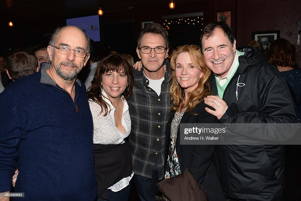 Actor Richard Schiff, Robin Bronk, CEO of The Creative Coalition, actor Tim Daly, actress Lea Thompson and actor Richard Kind attend The Creative Coalition celebration of the launch of Big Air Studios presented by ORACLE at Rock & Reilly's on January 17, 2014 in Park City, Utah.