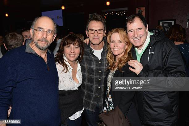 Actor Richard Schiff Robin Bronk CEO of The Creative Coalition actor Tim Daly actress Lea Thompson and actor Richard Kind attend The Creative...