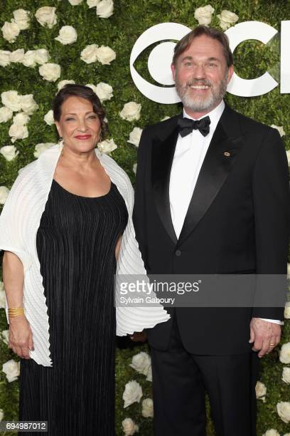 Actor Richard Thomas and Georgiana Bischoff attend the 2017 Tony Awards at Radio City Music Hall on June 11 2017 in New York City