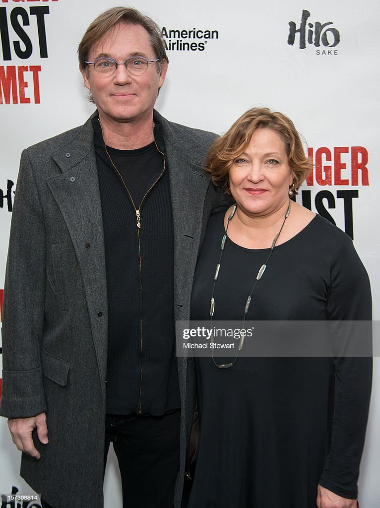 Actor <a gi-track='captionPersonalityLinkClicked' href=/galleries/search?phrase=Richard+Thomas&family=editorial&specificpeople=207180 ng-click='$event.stopPropagation()'>Richard Thomas</a> (L) and Georgiana Bischoff attend 'The Anarchist' Broadway Opening Night at John Golden Theatre on December 2, 2012 in New York City.