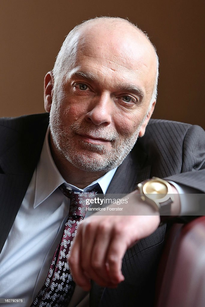 Actor Richard van Weyden poses on set during the filming of movie 'Epic' on February 27, 2013 in Frankfurt am Main, Germany.