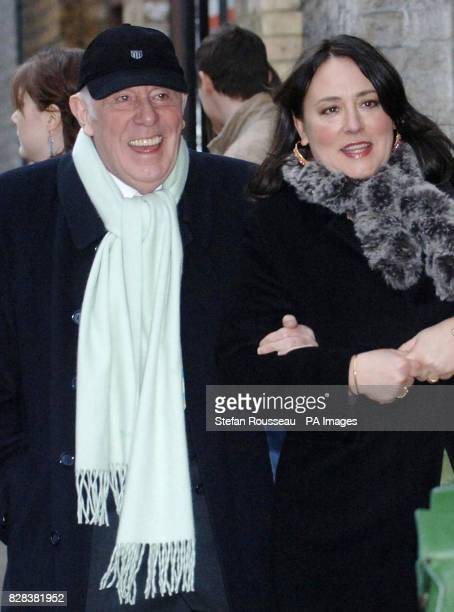 Actor Richard Wilson and comedian Arabella Weir arrive for the civil partnership ceremony of former EastEnders star Michael Cashman 55 and his...