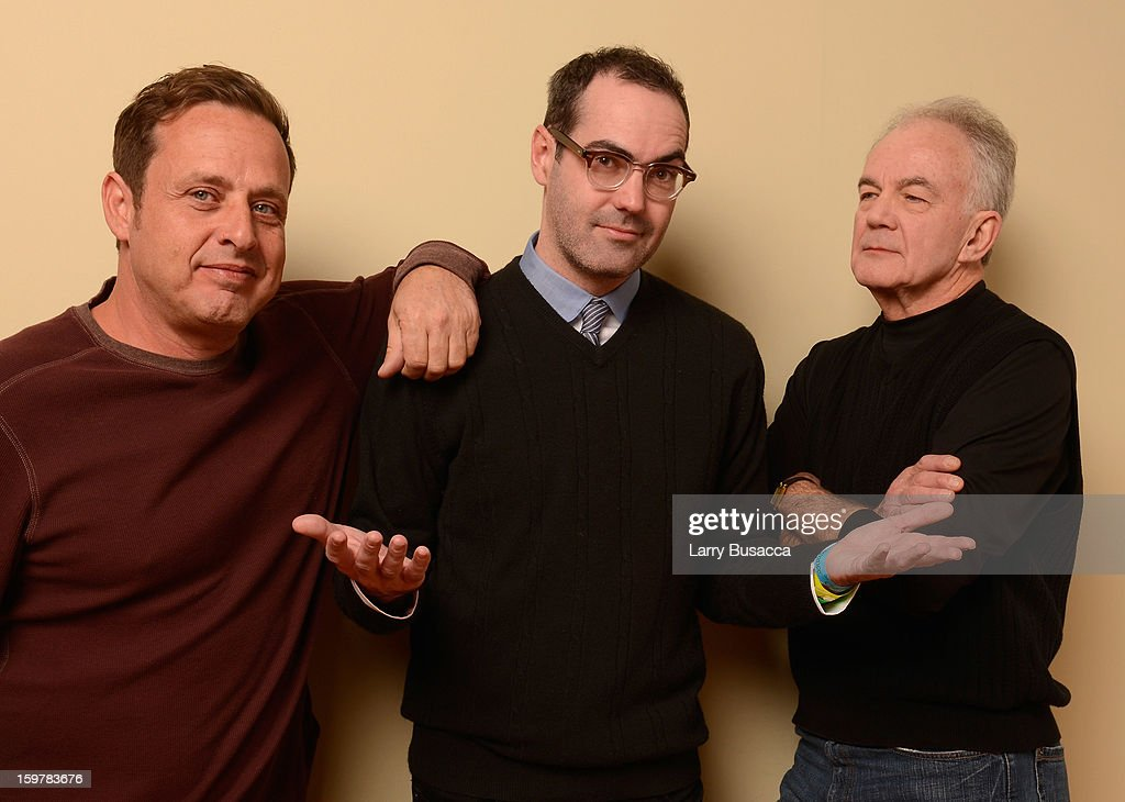 Actor Richmond Arquette, writer/director Chad Hartigan and actor Paul Eenhoorn pose for a portrait during the 2013 Sundance Film Festival at the Getty Images Portrait Studio at Village at the Lift on January 20, 2013 in Park City, Utah.